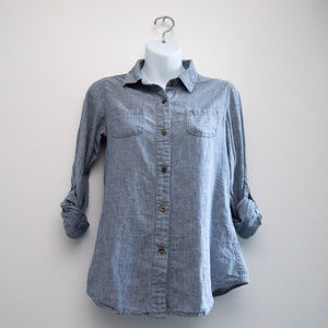 North Face Chambray Roll-Tab Button Shirt